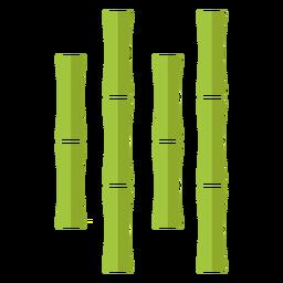 Bambus hellgrün vier nahe zentrierte Ikone