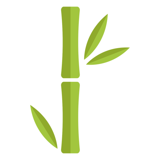 Bamboo light green single thick icon Transparent PNG