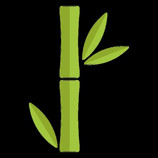 Bambú verde claro único icono grueso