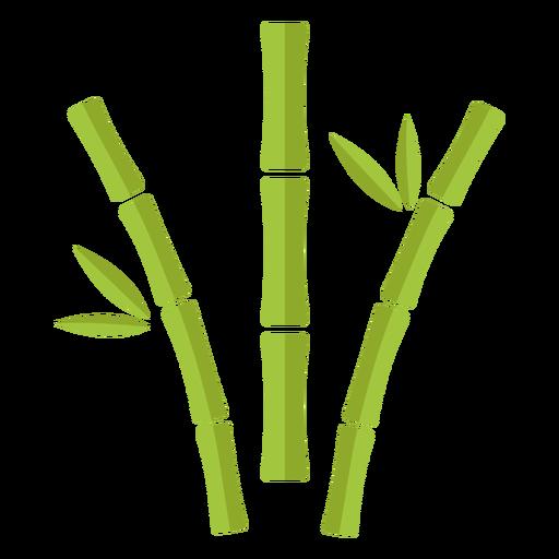 Bambú verde claro tres icono curvo aparte Transparent PNG