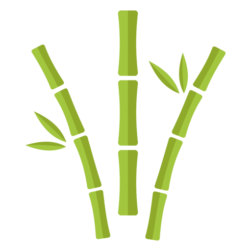 Bamboo light green three apart curved icon Transparent PNG