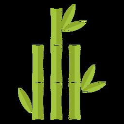 Bambú verde claro tres icono de cierre