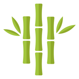 Bambus hellgrün drei nahe zentrierte Ikone