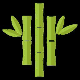 Ícone de bambu verde claro três próximo ao centro