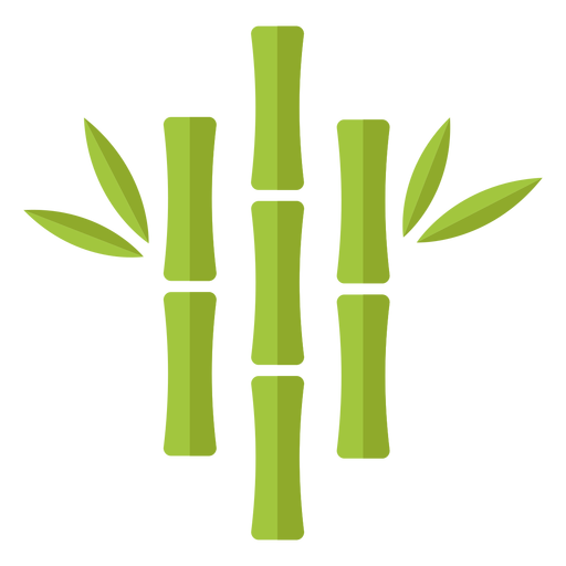 Bamboo light green three close centered icon Transparent PNG