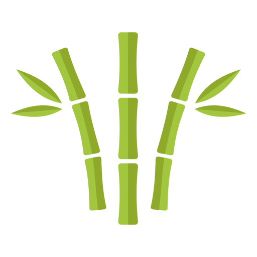 Bamboo light green three close curved icon Transparent PNG