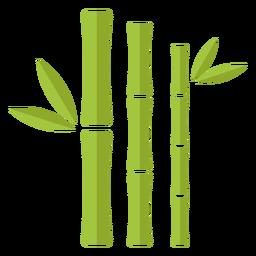 Bambus hellgrün drei schließen gerade Symbol