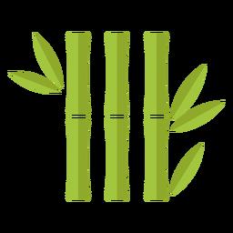 Bambú verde claro tres íconos idénticos