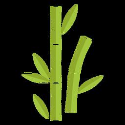 Bambú verde claro dos icono