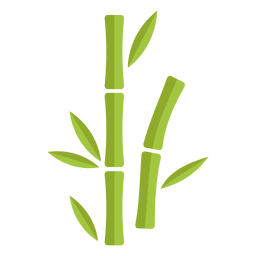 Bambus hellgrün zwei Symbol