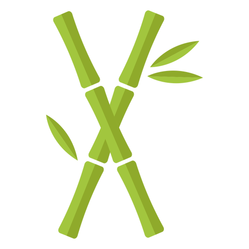 Bamboo light green two cross icon Transparent PNG