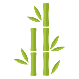 Bambú verde claro dos íconos rectos