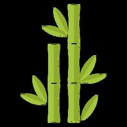 Bambus hellgrün zwei gerade Symbol