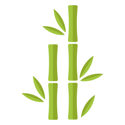 Bamboo light green two straight icon Transparent PNG