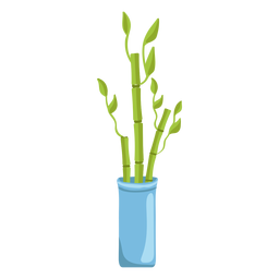 Planta de la suerte de bambú establece tres ilustración