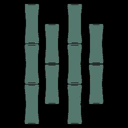 Palo de bambú cuatro icono centrado cerca