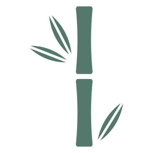 Palo de bambú único icono grueso