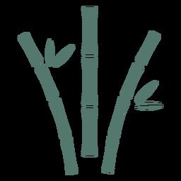 Palo de bambú tres icono curvo aparte