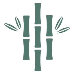Bamboo stick three close centered icon