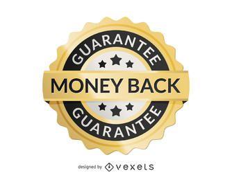 Geld zurück Etikett