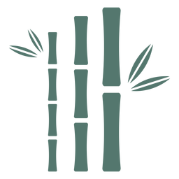 Bamboo stick three close straight icon