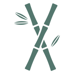 Bamboo stick two cross icon