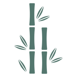 Ícone de pau de bambu dois em linha reta