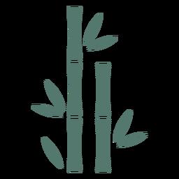 Palo de bambú dos icono recto