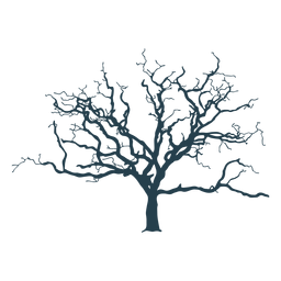 Desnudo trazo complejo del árbol