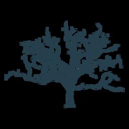 Traço complexo de árvore nua