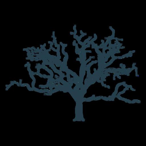 Trazo complejo de árbol desnudo