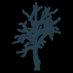Desnudo árbol simple trazo