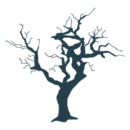 Bare tree simple thick stroke