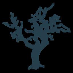 Curso desencapado simples de árvore nua