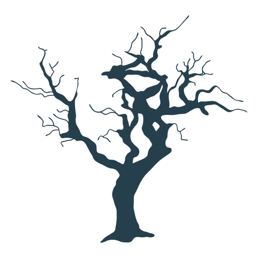 Árbol desnudo simple trazo grueso