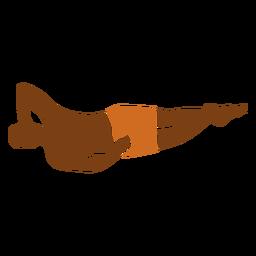 Mano de hombre de playa debajo de la cabeza hacia la izquierda