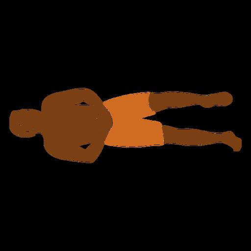 Beach man hands folded left facing Transparent PNG