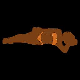 Mão de mulher praia na testa
