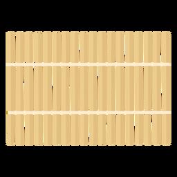 Estera de bambú para el cuidado corporal plana
