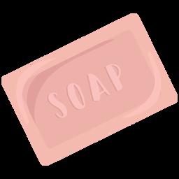 Jabón para el cuerpo plano
