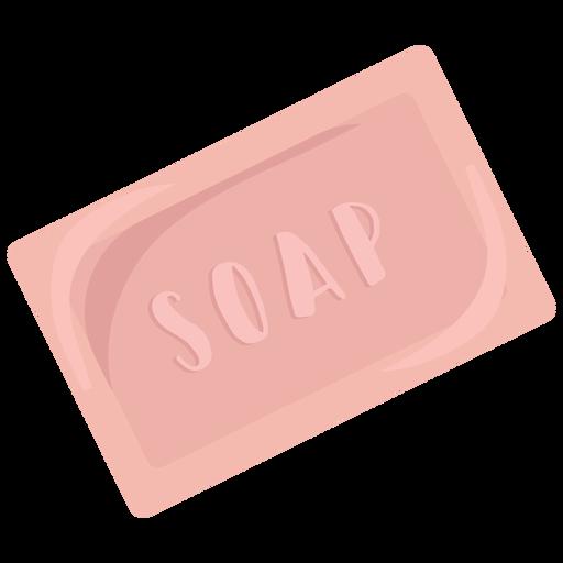 Jabón de cuidado corporal plano Transparent PNG