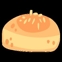 Rollo de pan plano