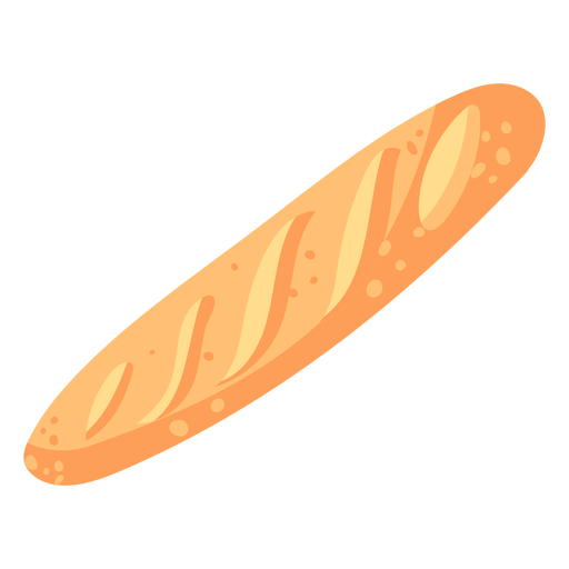 Bread baguette french flat Transparent PNG