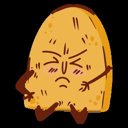 Desenho animado de pão fechou os olhos