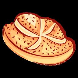 Bread cinnamon star flat