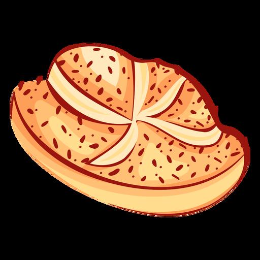 Pan estrella canela plana