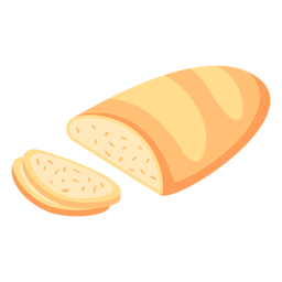 Hogaza de pan en rodajas planas