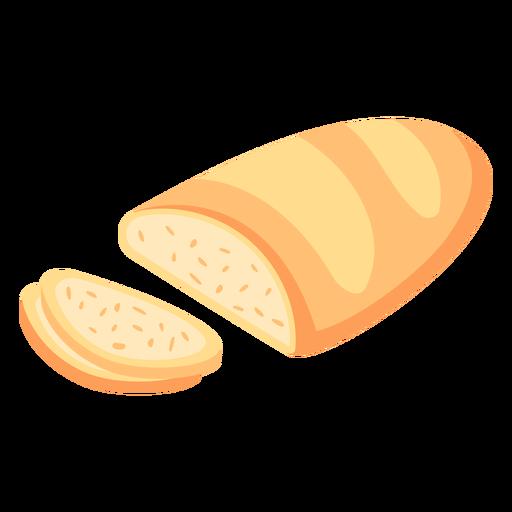Bread loaf sliced flat Transparent PNG