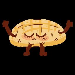 Ícone de desenho animado de caveira de pão