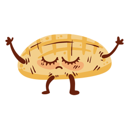 Icono de dibujos animados de calavera de pan